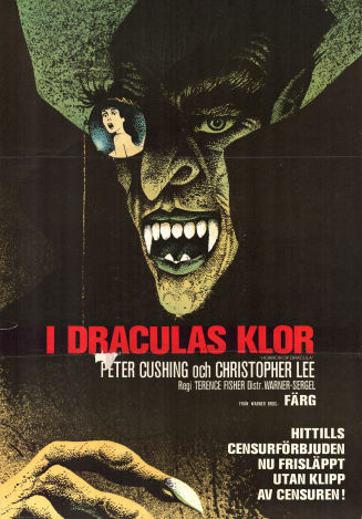 I Draculas klor 1958 poster Peter Cushing Terence Fisher