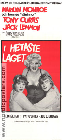 I hetaste laget 1959 poster Marilyn Monroe Billy Wilder
