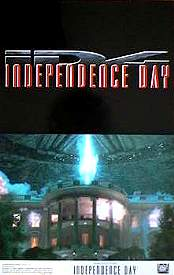 Independence Day 1996 lobbykort Will Smith Roland Emmerich