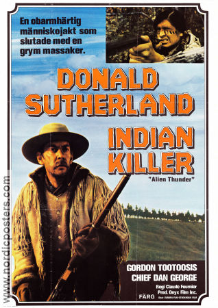 Indian Killer 1974 poster Donald Sutherland