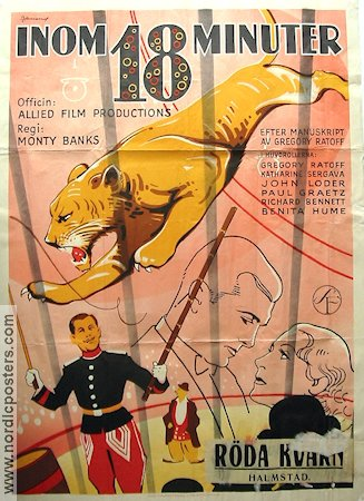 Inom 18 minuter 1936 poster Gregory Ratoff Monty Banks
