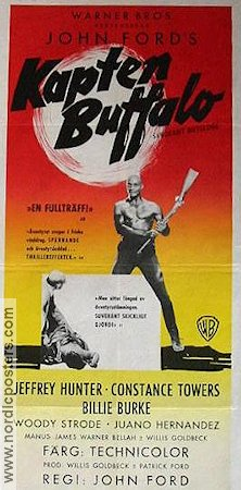 Kapten Buffalo 1960 poster Jeffrey Hunter John Ford
