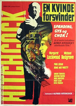 The Lady Vanishes Poster 62x84cm Denmark FN original
