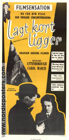 Lagt kort ligger 1948 poster Richard Attenborough John Boulting