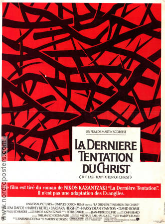 The Last Temptation of Christ 1988 poster Willem Dafoe Martin Scorsese