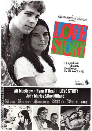 Love Story 1971 poster Ali MacGraw