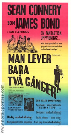 Man lever bara tv� g�nger Poster 30x70cm NM original