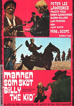 Mannen som sk�t Billy the Kid Poster 70x100cm NM original