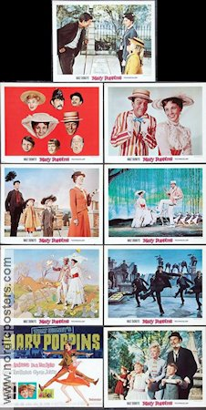 Mary Poppins 1964 lobbykort Julie Andrews Robert Stevenson