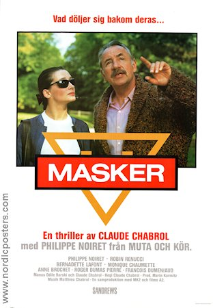 Masker 1987 poster Philippe Noiret Claude Chabrol