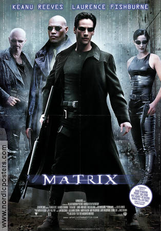 The Matrix 1998 poster Keanu Reeves Andy Wachowski