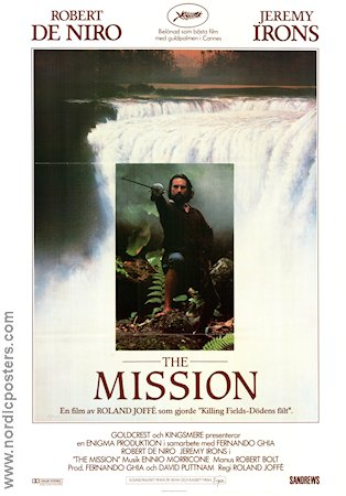 The Mission 1986 poster Robert De Niro
