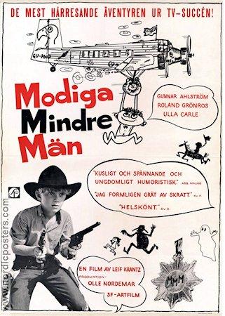 Modiga mindre män filmaffisch poster