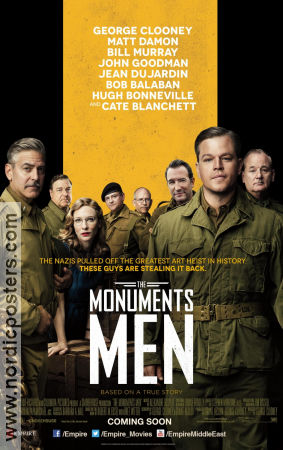 The Monuments Men 2014 poster Matt Damon