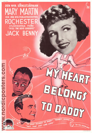 My Heart Belongs to Daddy 1942 poster Mary Martin Robert Siodmak