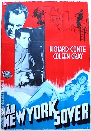 När New York sover 1950 poster Richard Conte