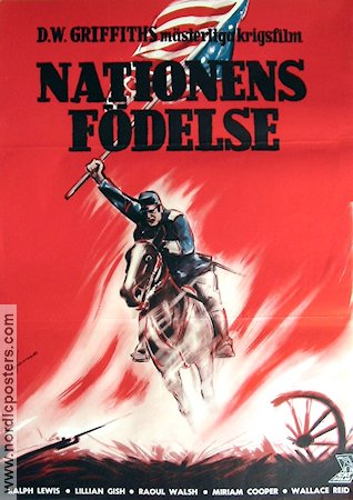 Nationens födelse 1915 poster Lilian Gish D W Griffith