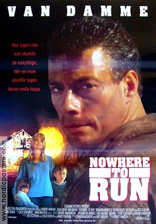 Nowhere to Run 1993 poster Jean-Claude Van Damme