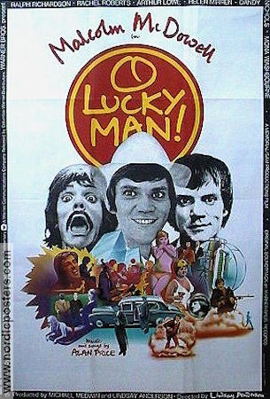 O Lucky Man 1973 poster Malcolm McDowell