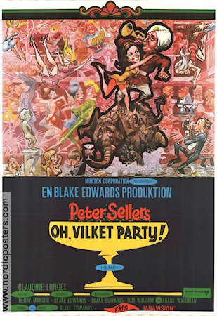 Oh vilket party 1969 poster Peter Sellers Blake Edwards