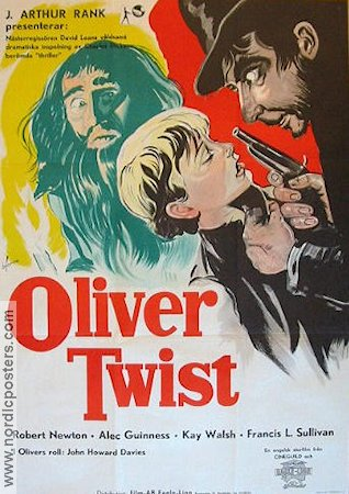 Oliver Twist 1948 poster Alec Guinness David Lean