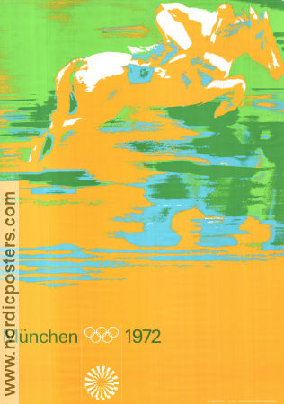 Olympic Games München Horses 1972 affisch