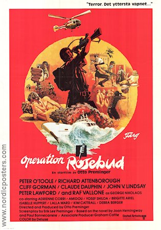 Operation Rosebud 1975 poster Peter O´Toole Otto Preminger