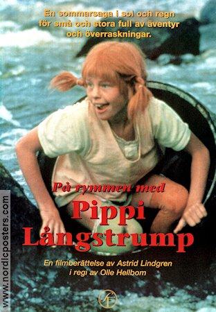 På rymmen med Pippi Långstrump filmaffisch poster