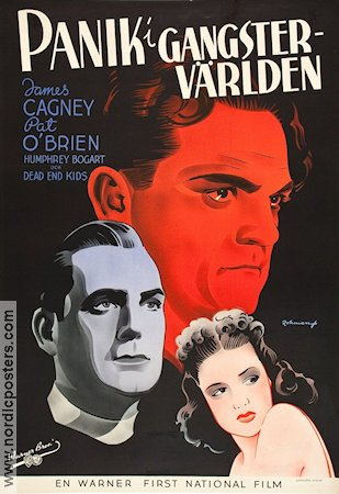 Panik i gangstervärlden 1939 poster James Cagney Michael Curtiz