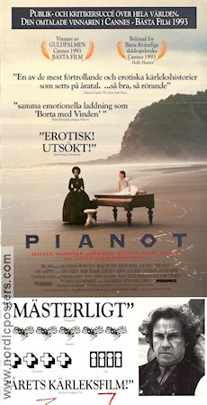 Pianot 1992 poster Holly Hunter Jane Campion
