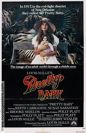 Pretty Baby 1978 poster Brooke Shields Louis Malle
