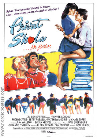 PRIVATE SCHOOL Privat skola filmaffisch 1983 original ...