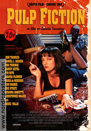 Pulp Fiction 1994 poster John Travolta Quentin Tarantino