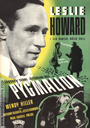 Pygmalion 1938 poster Leslie Howard Anthony Asquith