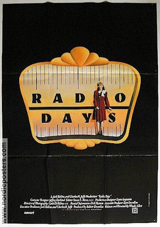 Radio Days 1987 poster Mia Farrow Woody Allen