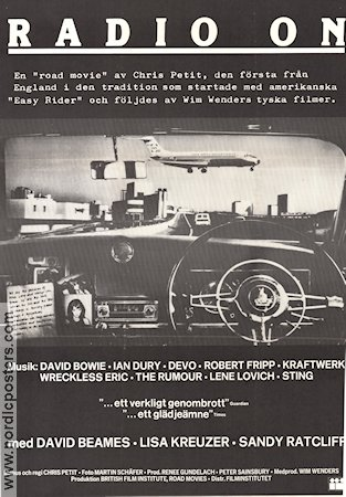 Radio On 1980 poster David Beames