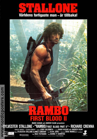 Rambo First Blood 2 1985 poster Sylvester Stallone George P Cosmatos