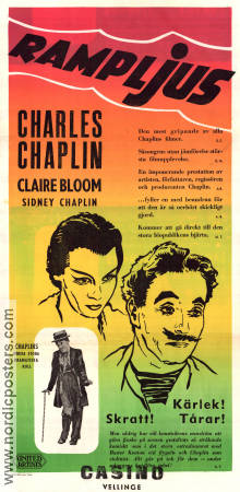 Rampljus 1952 poster Claire Bloom Charlie Chaplin