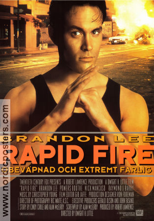 Rapid Fire 1992 poster Brandon Lee