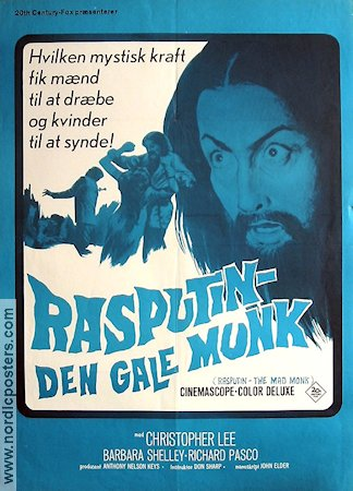 Rasputin The Mad Monk 1966 poster Christopher Lee