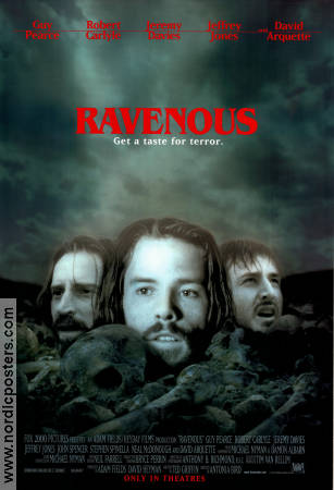 Ravenous 1999 poster Guy Pearce Antonia Bird