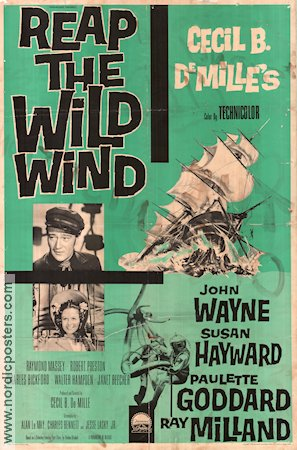 Reap the Wild Wind 1942 poster John Wayne Cecil B DeMille