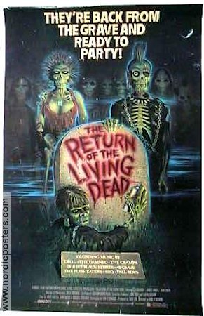 The Return of the Living Dead 1985 poster Clu Gulager