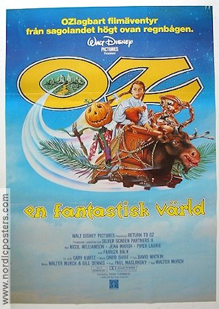 Return to Oz 1985 poster Fairuza Balk