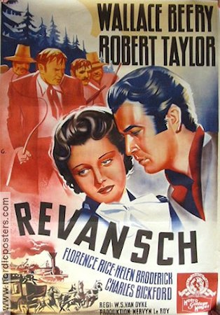 Revansch 1939 poster Wallace Beery