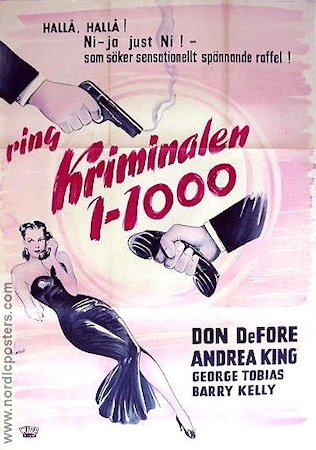 Ring kriminalen 1-1000 1950 poster Don DeFore