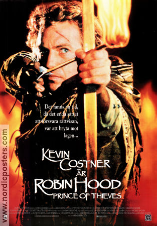 Robin Hood Prince of Thieves 1991 poster Kevin Costner Kevin Reynolds