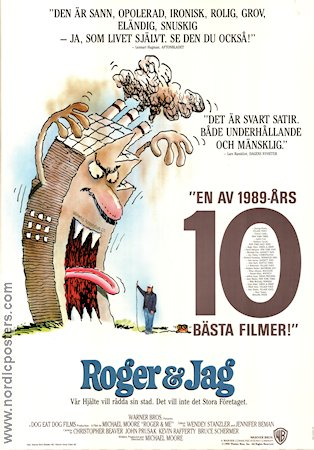 Roger and Me 1990 poster Michael Moore