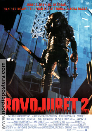 Rovdjuret 2 1990 poster Danny Glover Stephen Hopkins