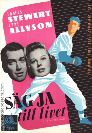 Säg ja till livet 1949 poster James Stewart Sam Wood